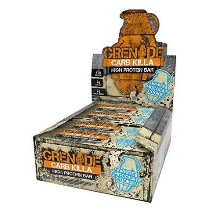 Grenade Carb Killa Protein Bars White Chocolate Cookie 60g - 12 Bars